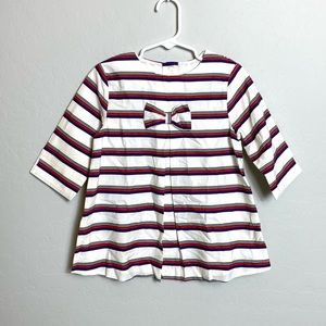 Janie and Jack Girl's 6 Striped Top